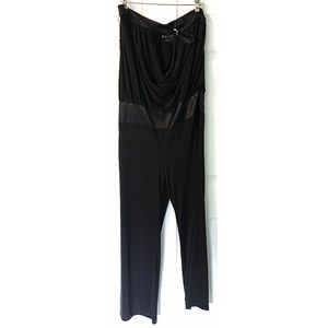 Baby Phat Jumpsuit Strapless Wide Leg 1X Black